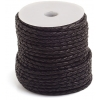 Leather Genuine Bolo-Cord 3mm Braided Black